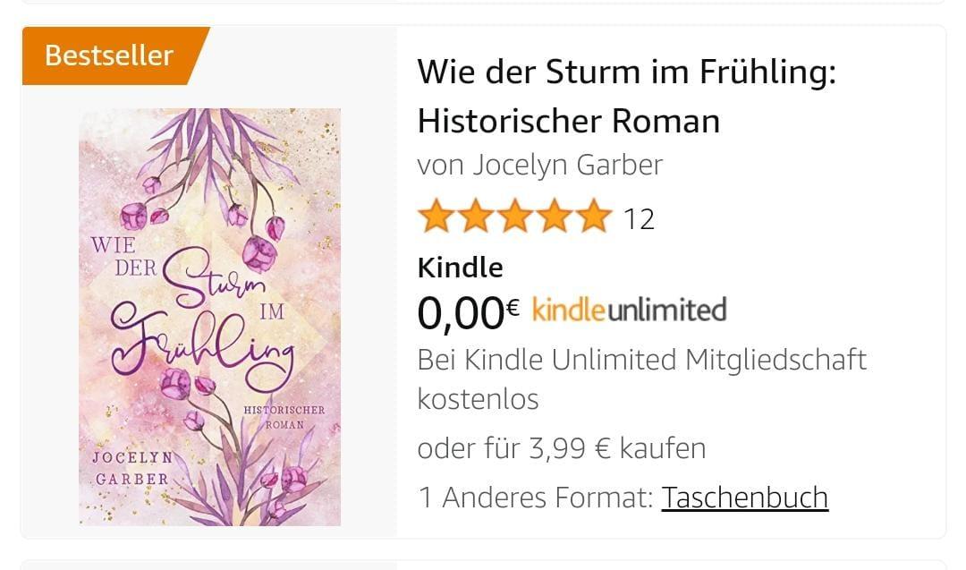 "Der ""Frühlingssturm"" ist Bestseller"